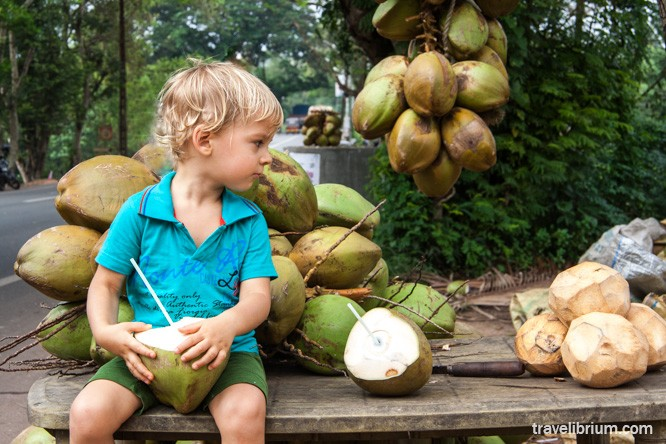 baby and coconut